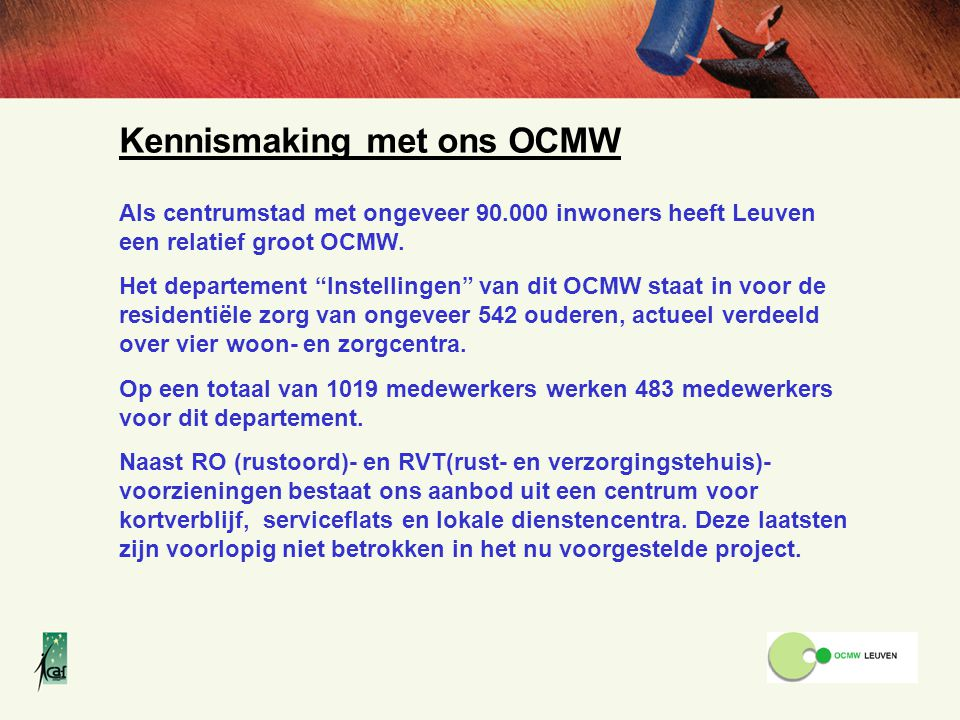 Kennismaking met ons OCMW