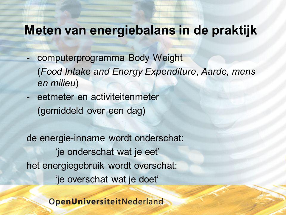 Meten van energiebalans in de praktijk