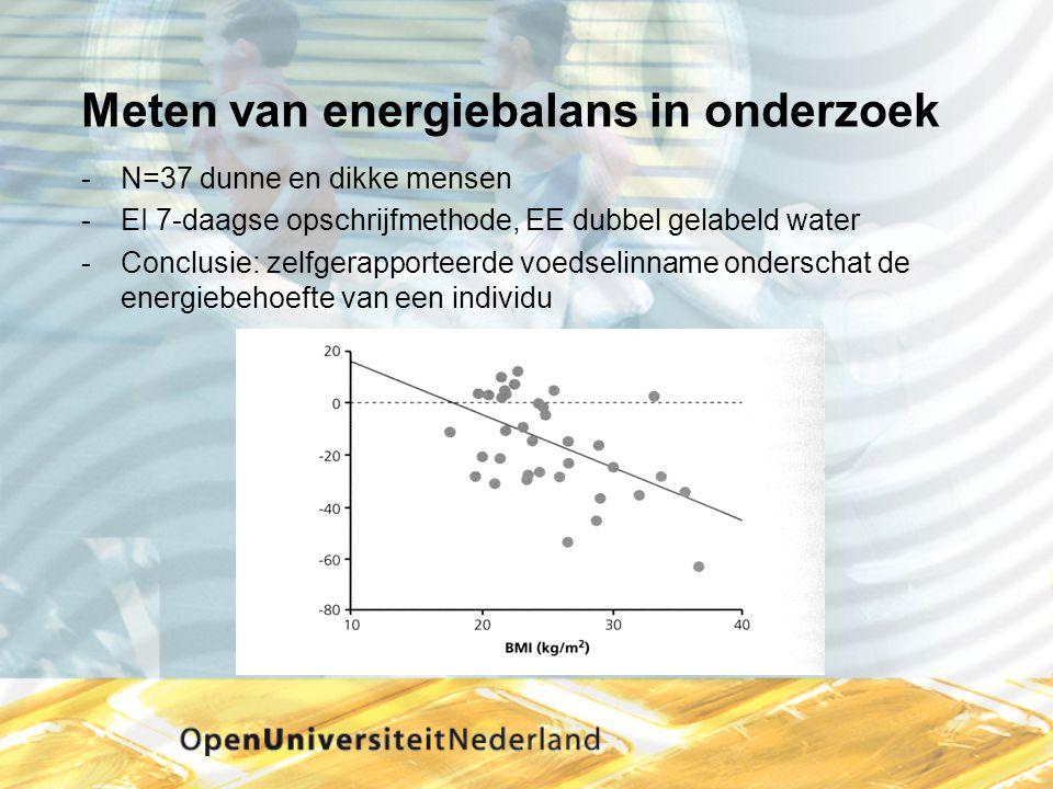 Meten van energiebalans in onderzoek