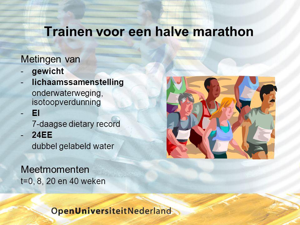 Trainen voor een halve marathon