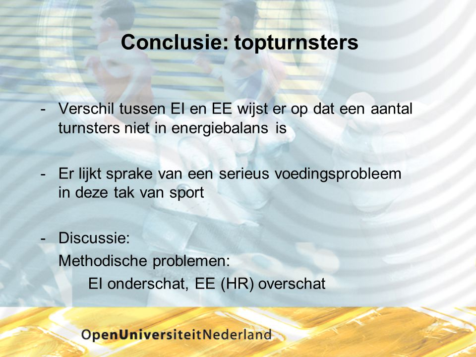 Conclusie: topturnsters