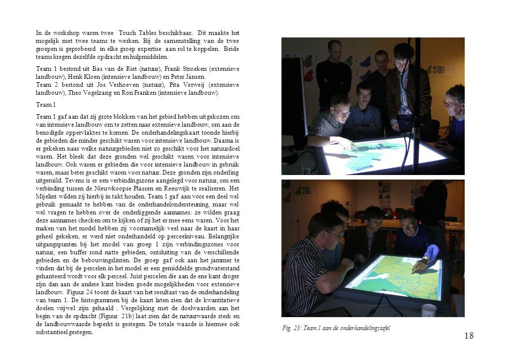 In de workshop waren twee Touch Tables beschikbaar
