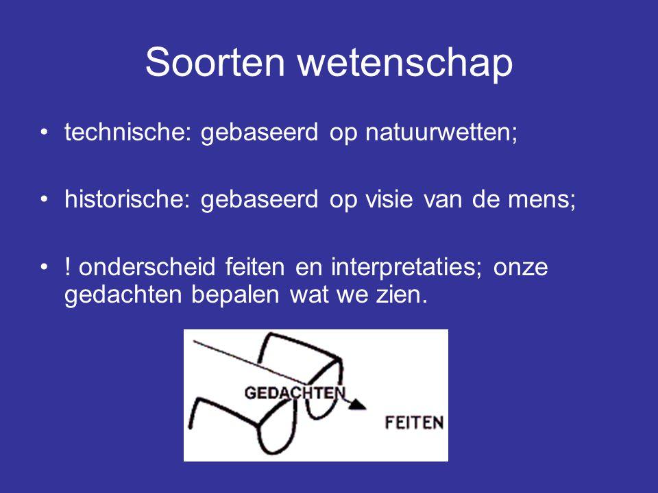 Soorten wetenschap technische: gebaseerd op natuurwetten;