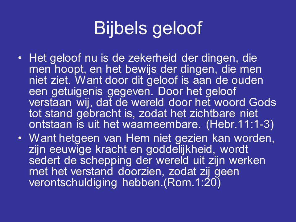 Bijbels geloof