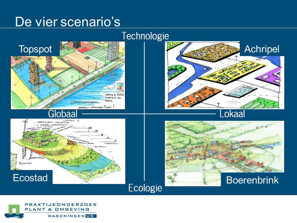 De vier scenario's Topspot Achripel Ecostad Boerenbrink Boerenbrink