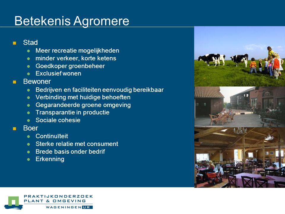 Betekenis Agromere Stad Bewoner Boer Meer recreatie mogelijkheden