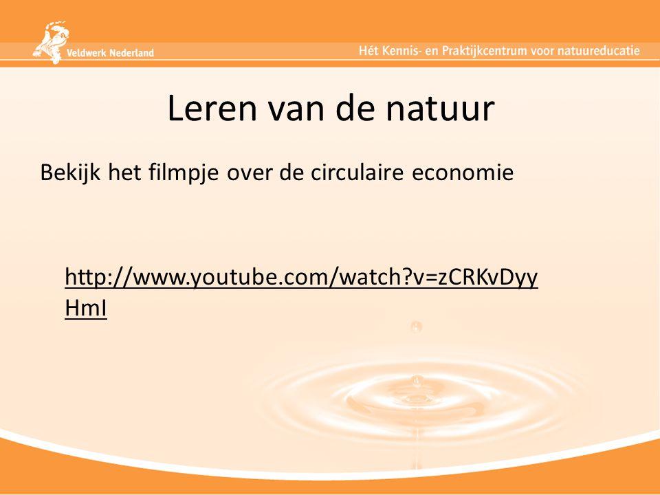 Leren van de natuur Bekijk het filmpje over de circulaire economie