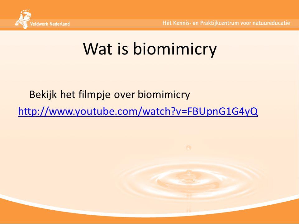Wat is biomimicry Bekijk het filmpje over biomimicry