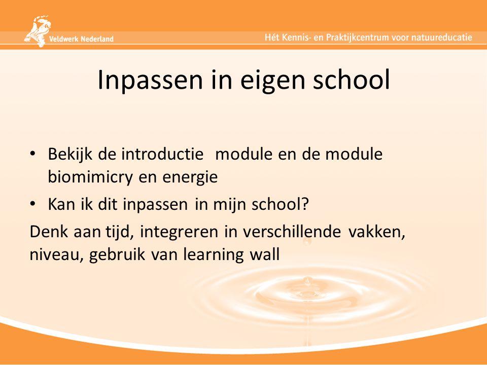 Inpassen in eigen school
