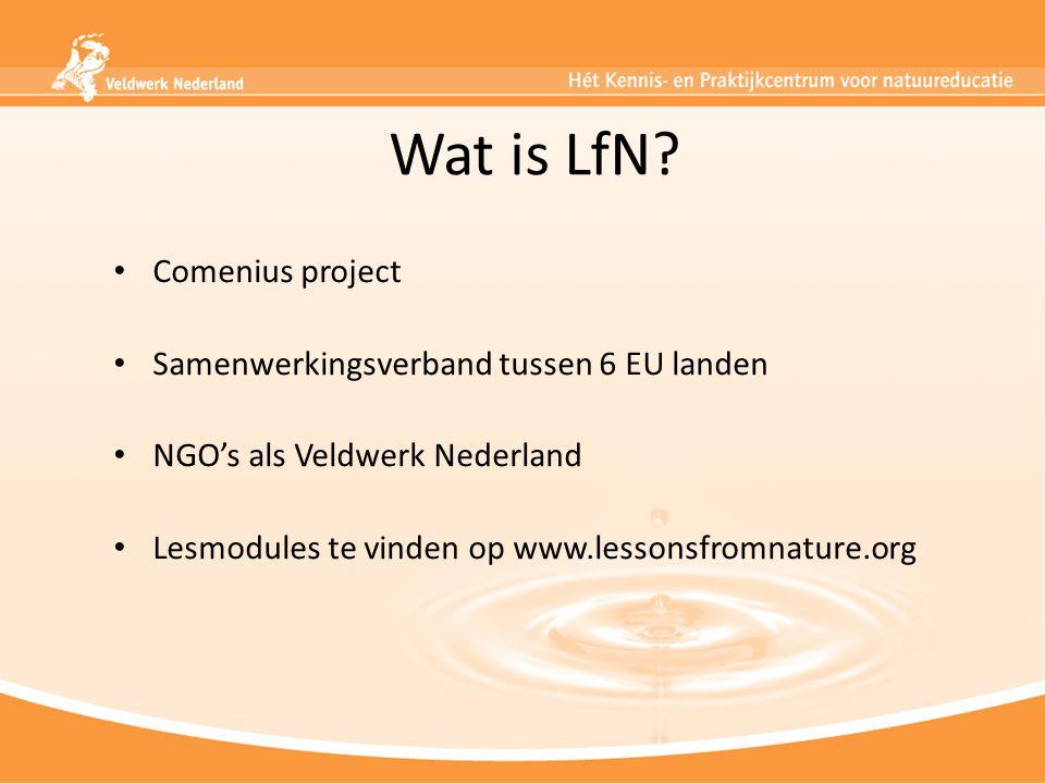 Wat is LfN Comenius project Samenwerkingsverband tussen 6 EU landen