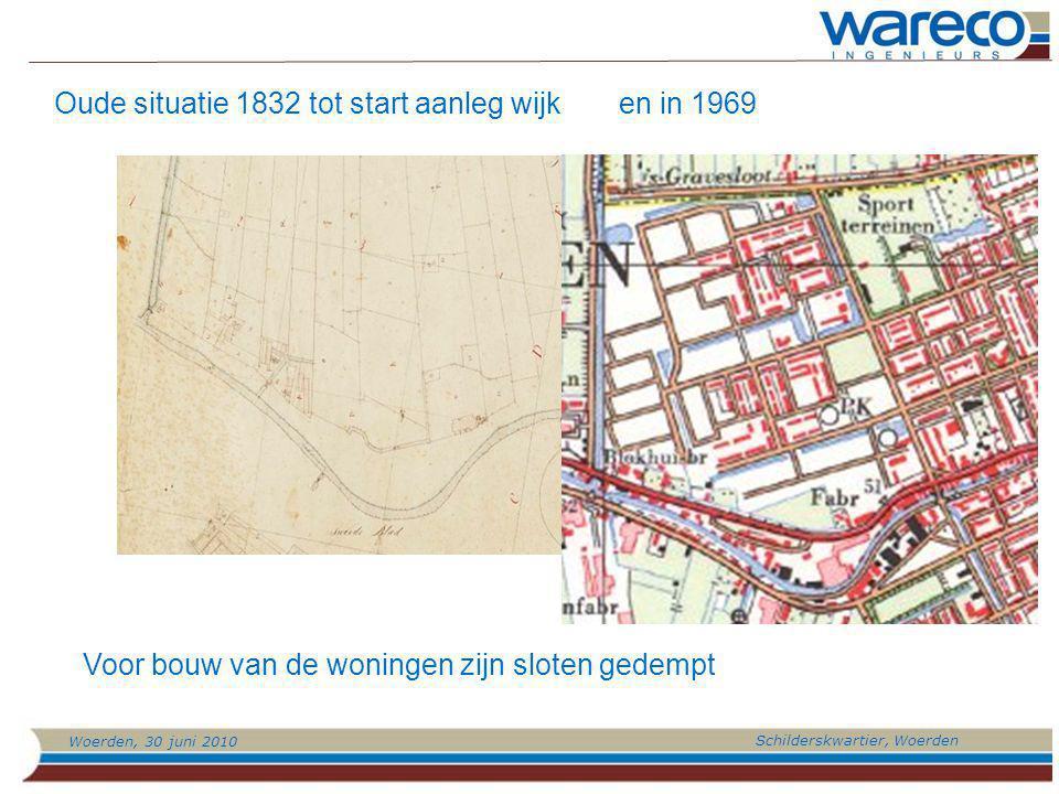 Oude situatie 1832 tot start aanleg wijk