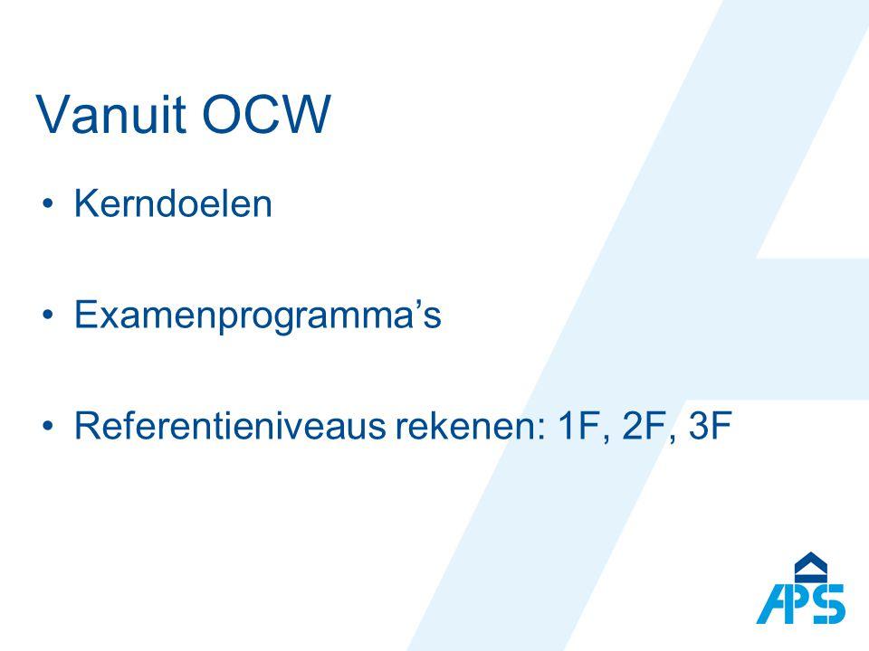 Vanuit OCW Kerndoelen Examenprogramma's