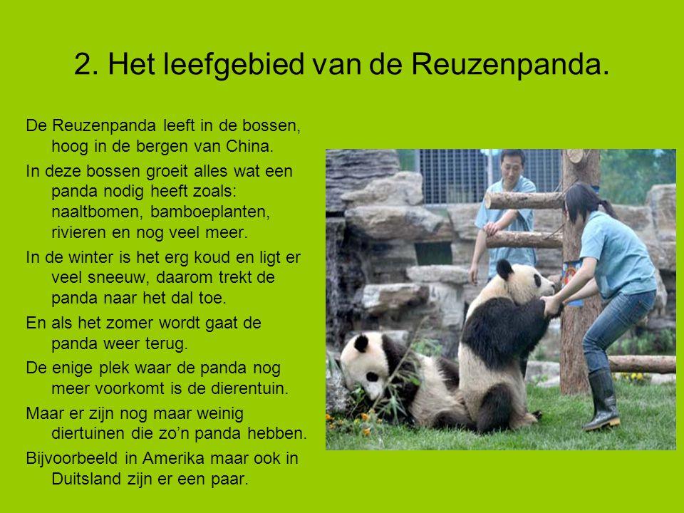 2. Het leefgebied van de Reuzenpanda.