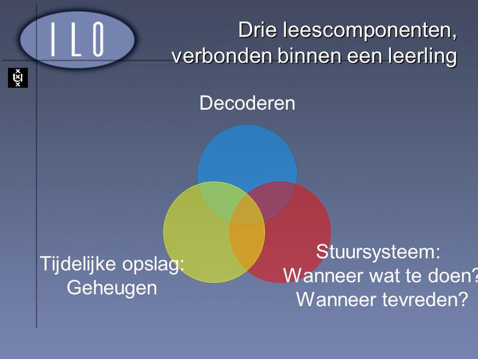 Drie leescomponenten, verbonden binnen een leerling