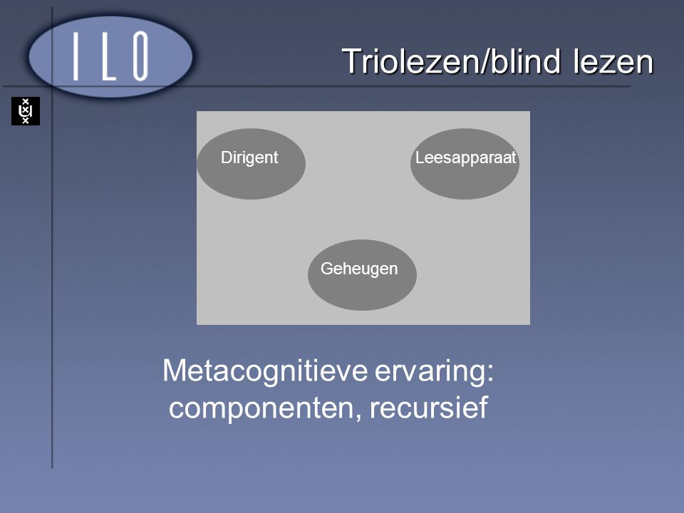 Triolezen/blind lezen