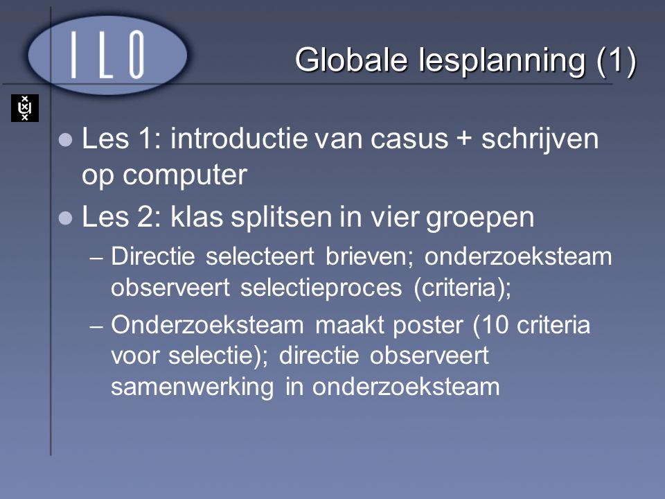Globale lesplanning (1)