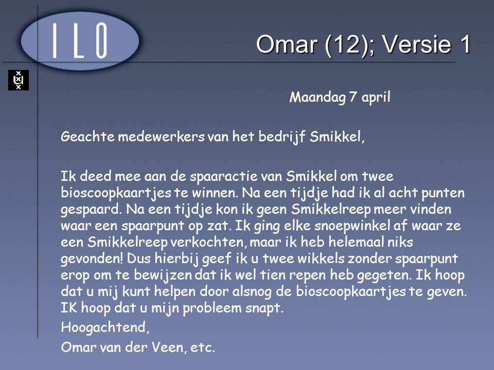 Omar (12); Versie 1