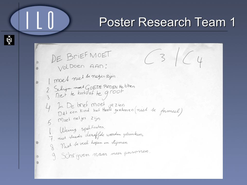 Poster Research Team 1
