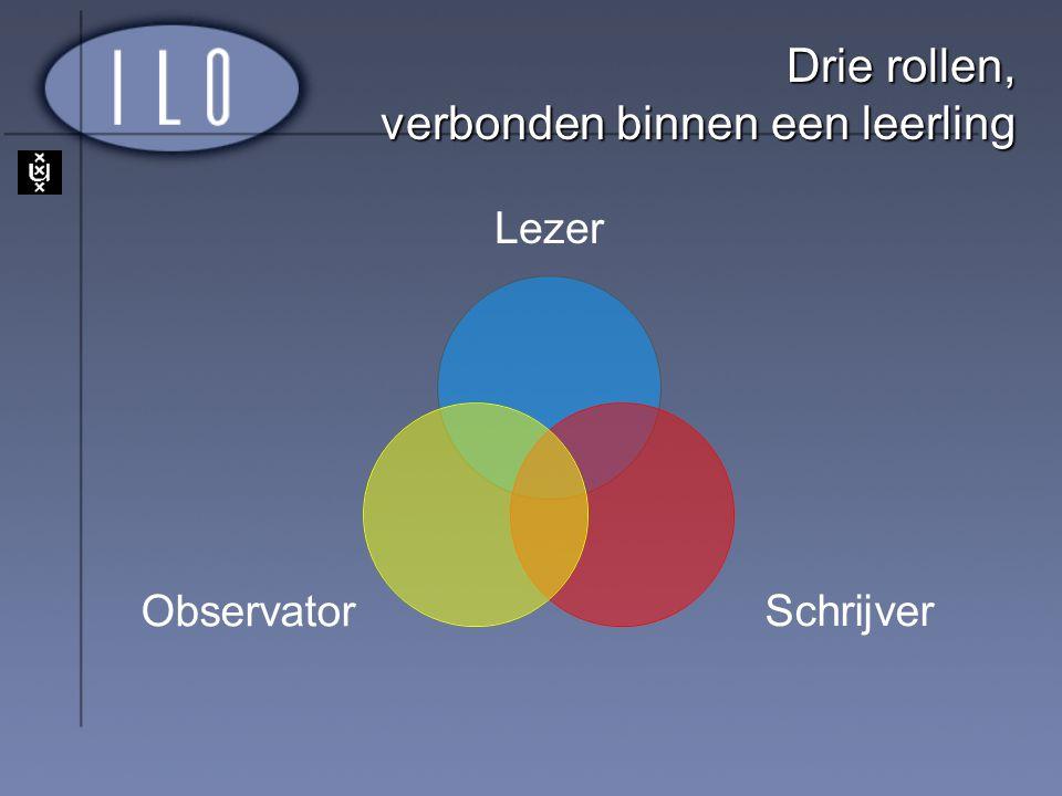Drie rollen, verbonden binnen een leerling