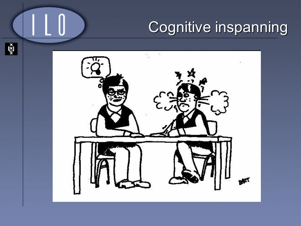 Cognitive inspanning