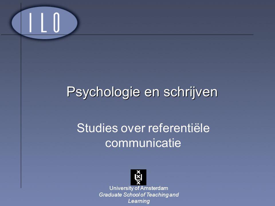 Psychologie en schrijven