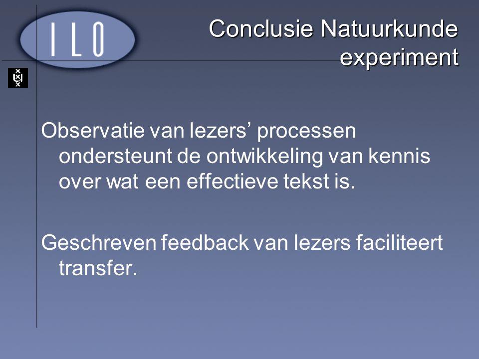 Conclusie Natuurkunde experiment