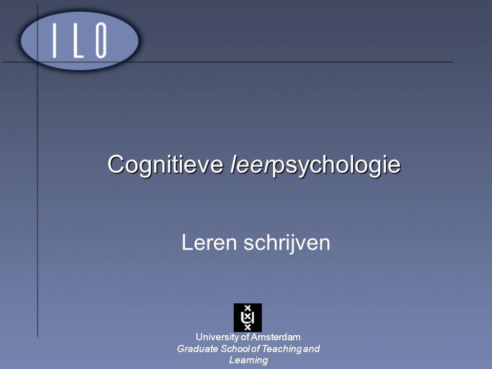 Cognitieve leerpsychologie