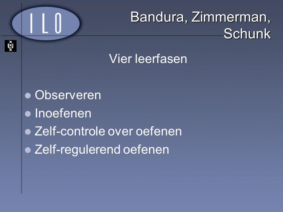 Bandura, Zimmerman, Schunk
