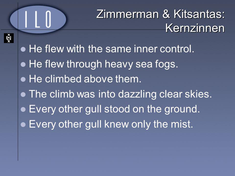 Zimmerman & Kitsantas: Kernzinnen