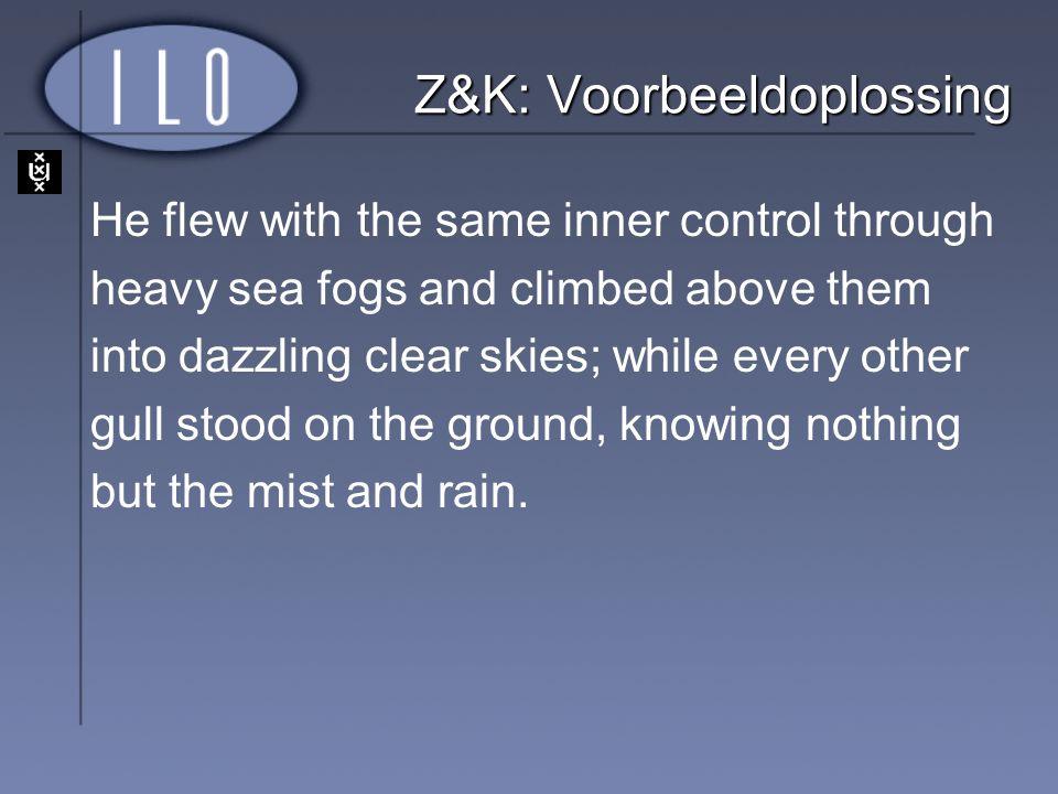 Z&K: Voorbeeldoplossing
