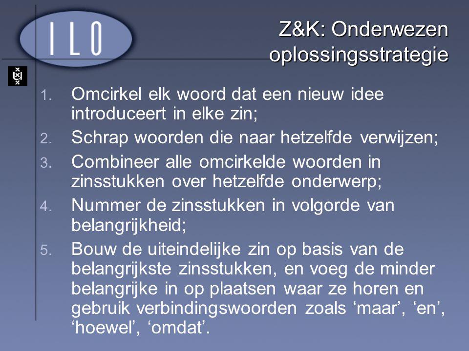 Z&K: Onderwezen oplossingsstrategie