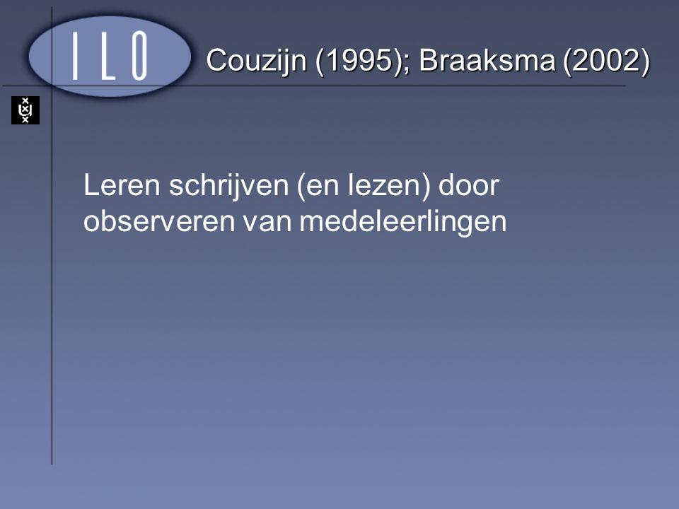 Couzijn (1995); Braaksma (2002)