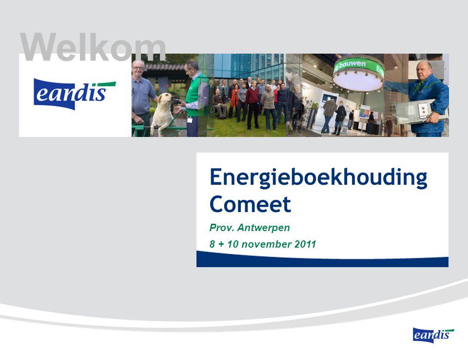 Welkom Energieboekhouding Comeet Prov. Antwerpen 8 + 10 november 2011