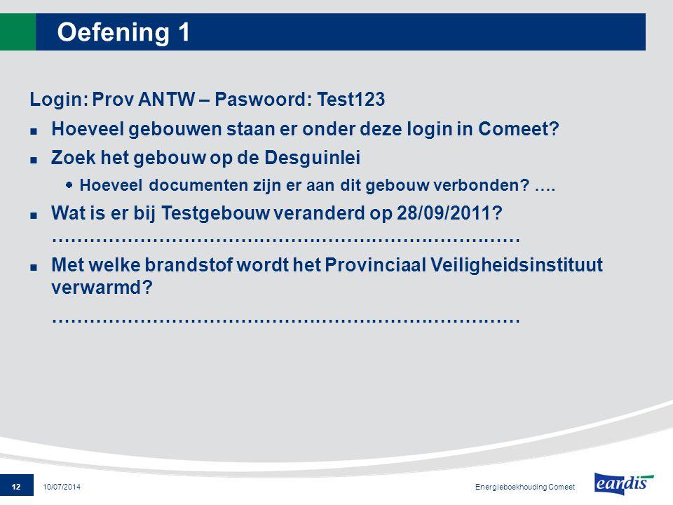 Oefening 1 Login: Prov ANTW – Paswoord: Test123