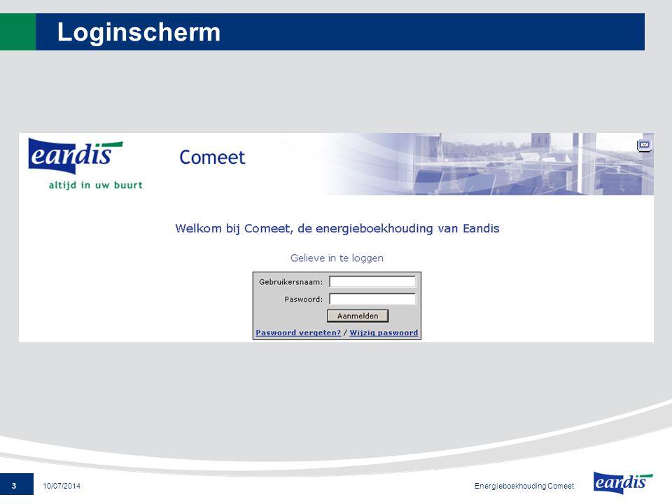 Loginscherm Energieboekhouding Comeet 4/04/2017