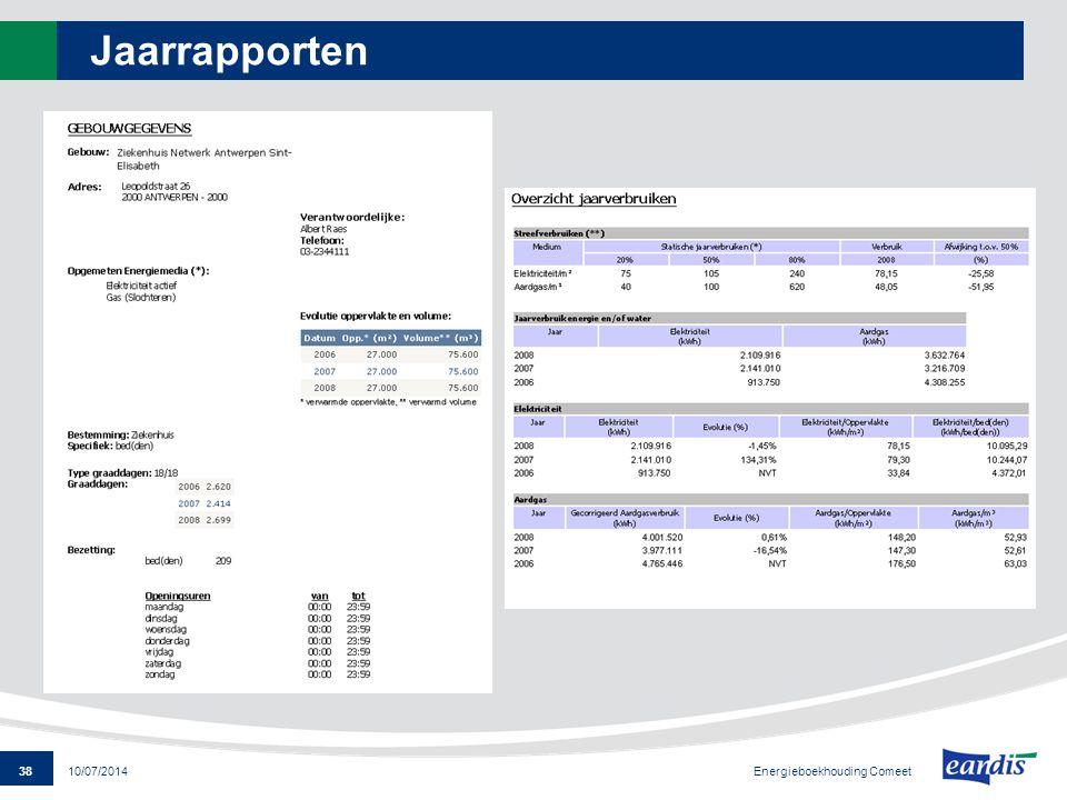 Jaarrapporten Energieboekhouding Comeet 4/04/2017