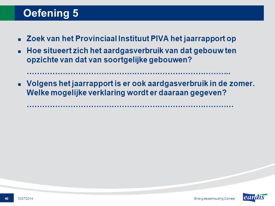 Oefening 5 Zoek van het Provinciaal Instituut PIVA het jaarrapport op