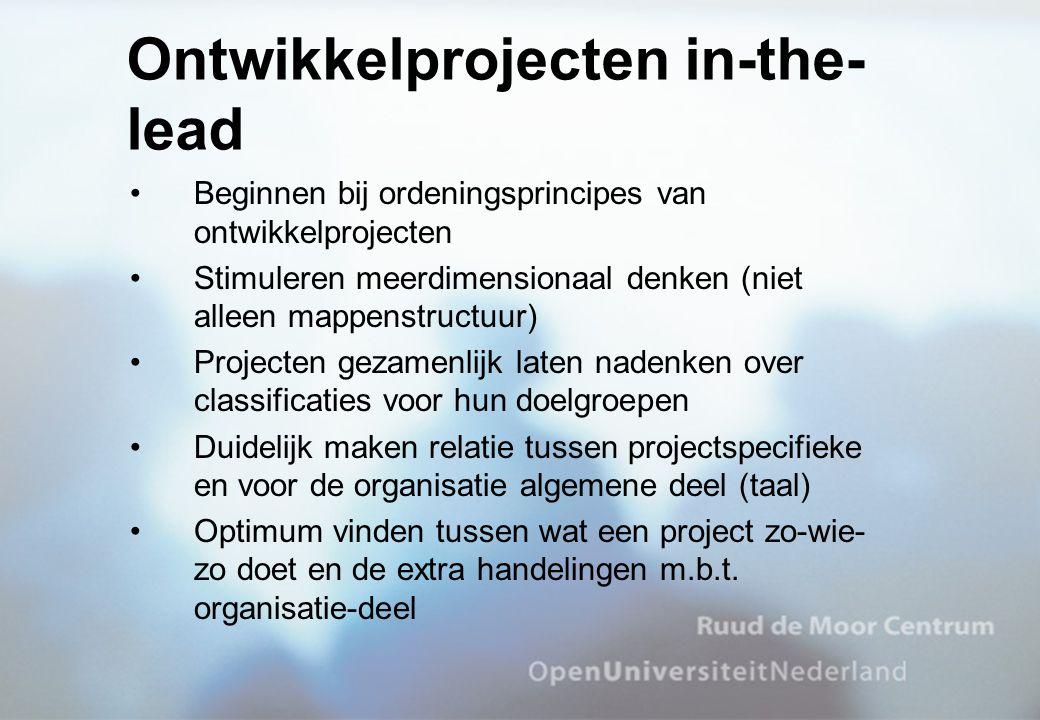 Ontwikkelprojecten in-the-lead