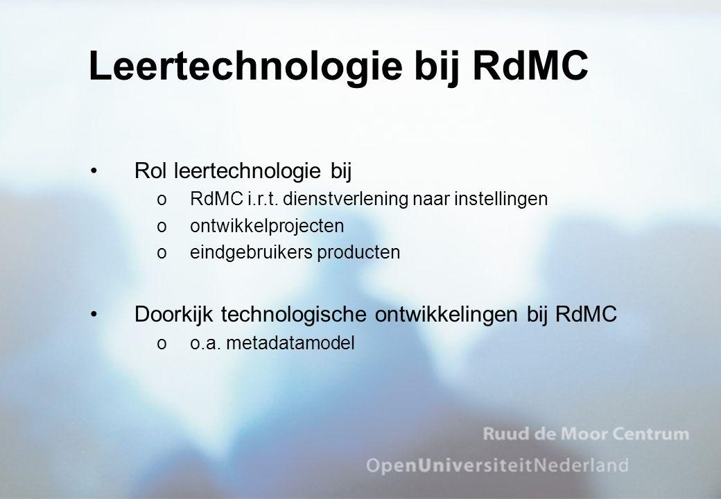 Leertechnologie bij RdMC