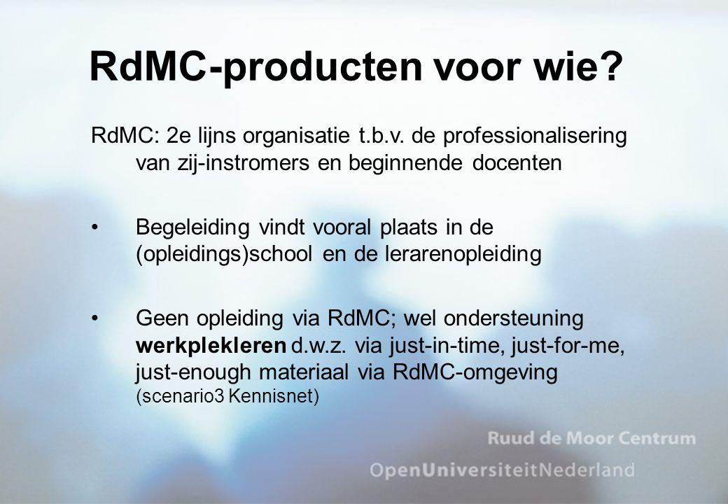 RdMC-producten voor wie