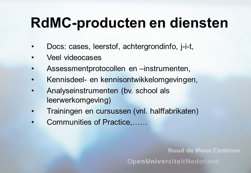 RdMC-producten en diensten