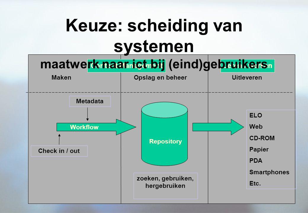 Keuze: scheiding van systemen maatwerk naar ict bij (eind)gebruikers