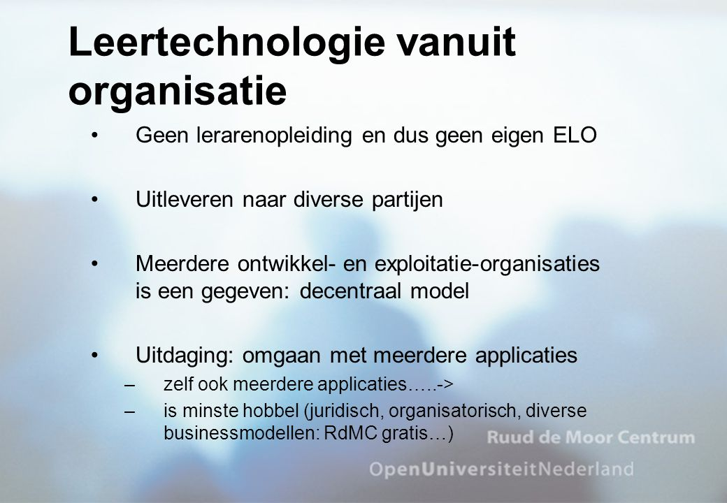 Leertechnologie vanuit organisatie