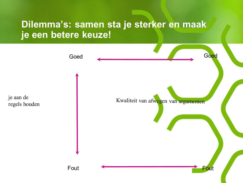Dilemma's: samen sta je sterker en maak je een betere keuze!