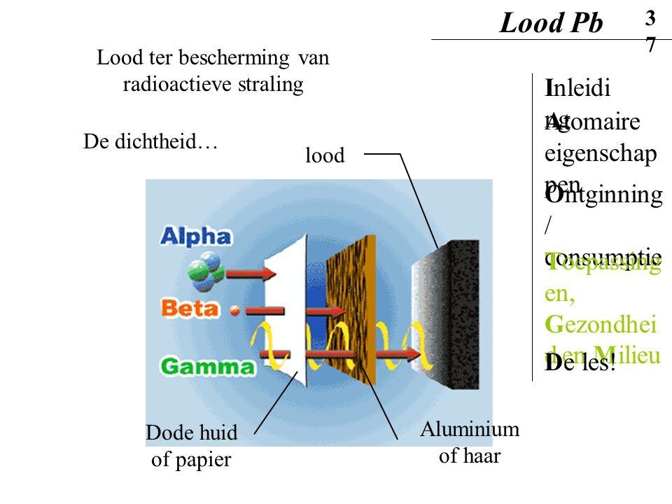 Lood ter bescherming van radioactieve straling