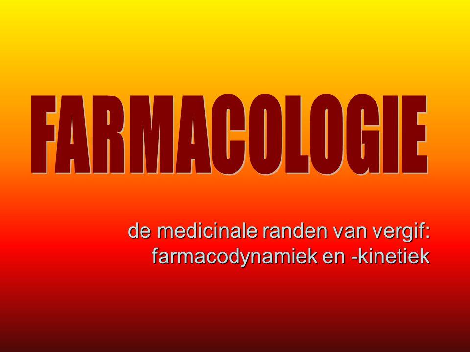 de medicinale randen van vergif: farmacodynamiek en -kinetiek