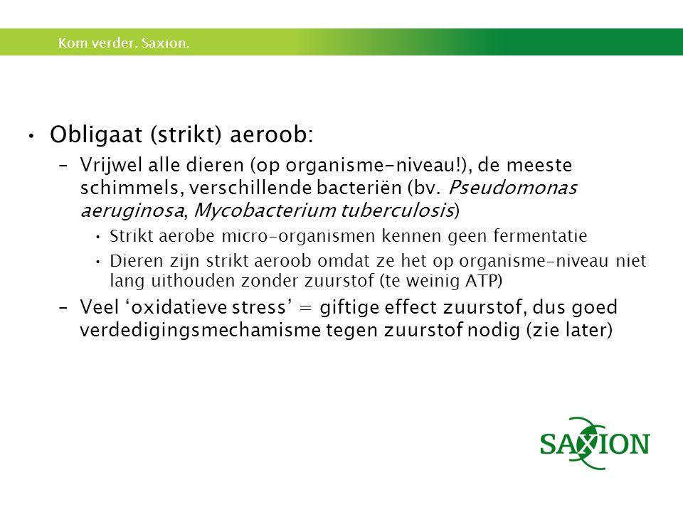 Obligaat (strikt) aeroob: