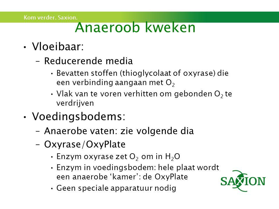 Anaeroob kweken Vloeibaar: Voedingsbodems: Reducerende media
