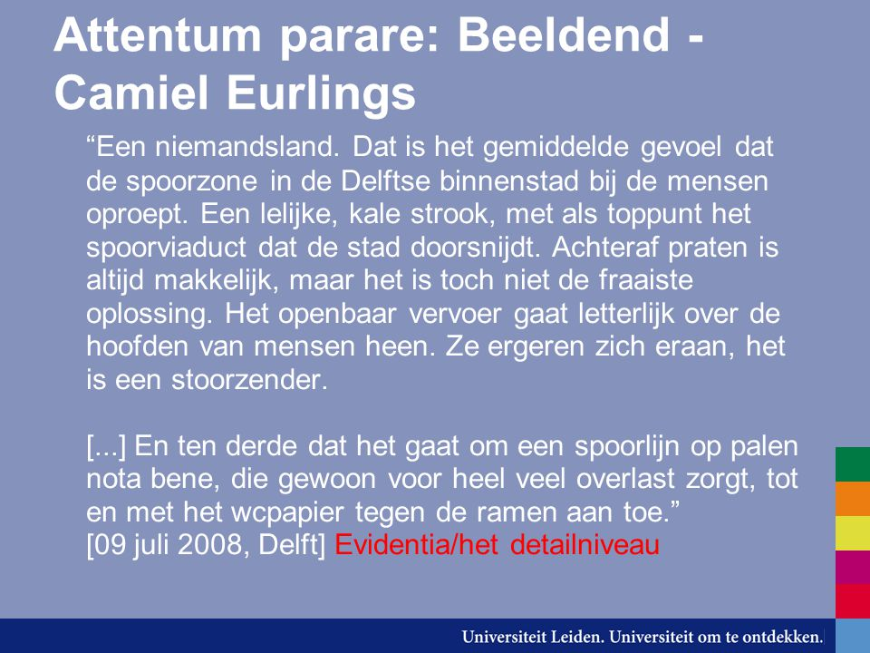 Attentum parare: Beeldend - Camiel Eurlings