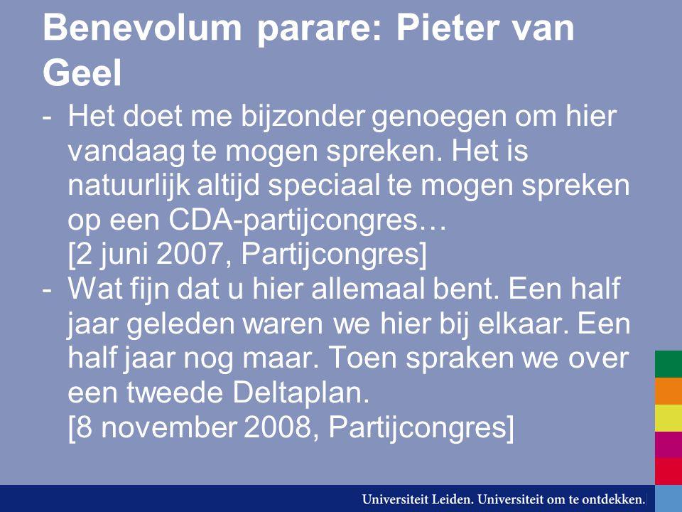 Benevolum parare: Pieter van Geel